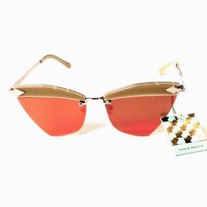 Karen Walker Sadie orange sunglasses gold 58mm